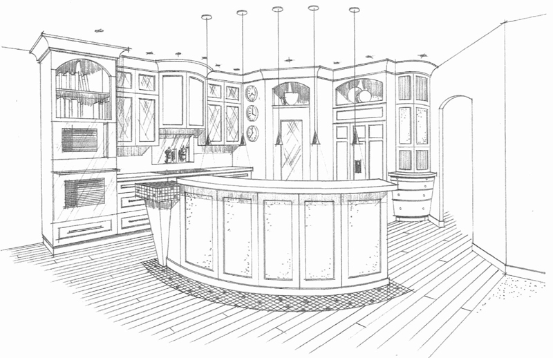 Small Kitchen Cabinets 3d Drawing Best Home Decoration